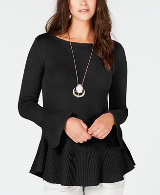 Style Co Ruffle Trimmed Pullover Sweater Created For Macys