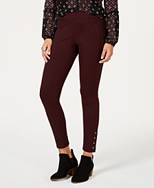 Snap-Hem Ponté-Knit Leggings, Created for Macy's