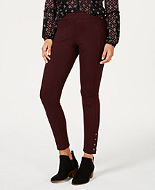 Style & Co Ankle-Snap Ponte-Knit Leggings, Created for Macy's