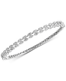 Pavé Classica by EFFY® Diamond Openwork Bangle Bracelet (1-5/8 ct. t.w.) in 14k White Gold