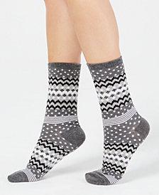 Charter Club Women's Printed Crew Socks, Created for Macy's