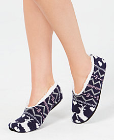 Charter Club Women's Printed Slipper Socks, Created for Macy's