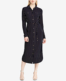 Ralph Lauren Petite Striped Shirtdress