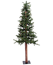 4' Flocked Alpine Artificial Christmas Tree with 100 Clear Lights