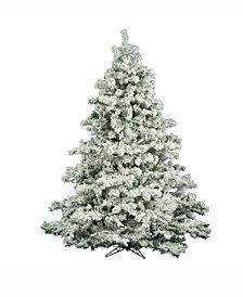 6.5' Flocked Alaskan Pine Artificial Christmas Tree Unlit