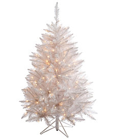 Vickerman 4.5' Sparkle White Spruce Artificial Christmas Tree with 250 Warm White LED Lights