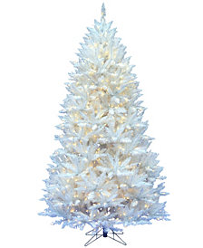 Vickerman 6.5' Sparkle White Spruce Artificial Christmas Tree with 600 Warm White LED Lights