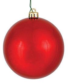 "Vickerman 15.75"" Red Shiny Ball Christmas Ornament"
