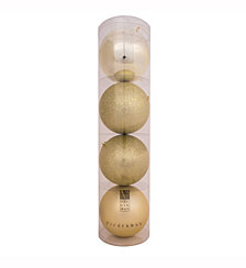 "Vickerman 3"" Champagne 4-Finish Ball Christmas Ornament, 32 per Box"