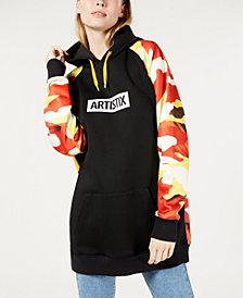 ARTISTIX Printed Contrast Hoodie Dress