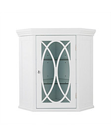 """24.5"""" H Florence Corner Wall Cabinet with 2 adjustable tempered glass shelves"""