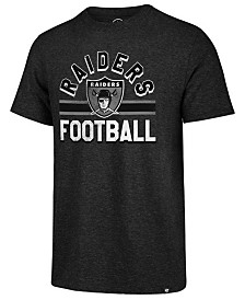 '47 Brand Men's Oakland Raiders Team Stripe Match Tri-Blend T-Shirt