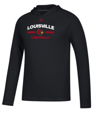 adidas Men's Louisville Cardinals Ultimate Hooded Long Sleeve T-Shirt