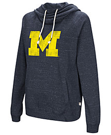 Colosseum Women's Michigan Wolverines Speckled Fleece Hooded Sweatshirt