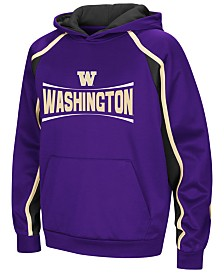 Colosseum Washington Huskies Poly Pullover Hoodie, Big Boys (8-20)