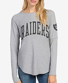 Junk Food Women's Oakland Raiders Thermal Long Sleeve T-Shirt