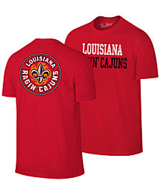 Retro Brand Men's Louisiana Ragin' Cajuns Team Stacked Dual Blend T-Shirt