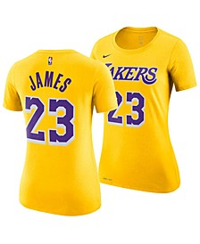 Women's LeBron James Los Angeles Lakers Name & Number Player T-Shirt