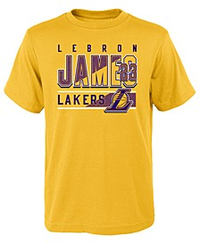 LeBron James Los Angeles Lakers Full Bench T-Shirt, Big Boys (8-20)