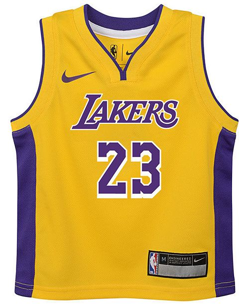 buy online 44ff0 3d809 Nike LeBron James Los Angeles Lakers Icon Replica Jersey ...