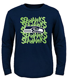 Outerstuff Seattle Seahawks Graph Repeat Long Sleeve T-Shirt, Toddler Boys (2T-4T)