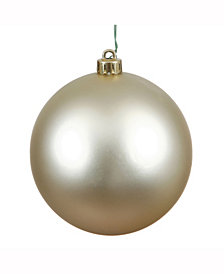 "6"" Champagne Matte Ball Christmas Ornament, 4 per Box"