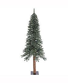 Vickerman 7' Natural Bark Alpine Artificial Christmas Tree Unlit