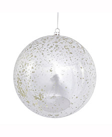 "6"" Silver Shiny Mercury Ball Christmas Ornament"
