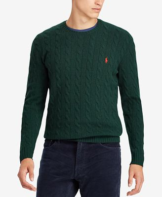 Polo Ralph Lauren Mens Cashmere Wool Blend Cable Knit Sweater
