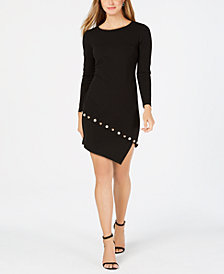 MSK Petite Embellished Asymmetrical Dress