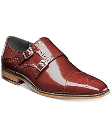 Stacy Adams Men's Tayton Cap-Toe Double-Monk Strap Loafers