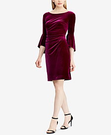 Lauren Ralph Lauren Velvet Bell-Sleeve Dress