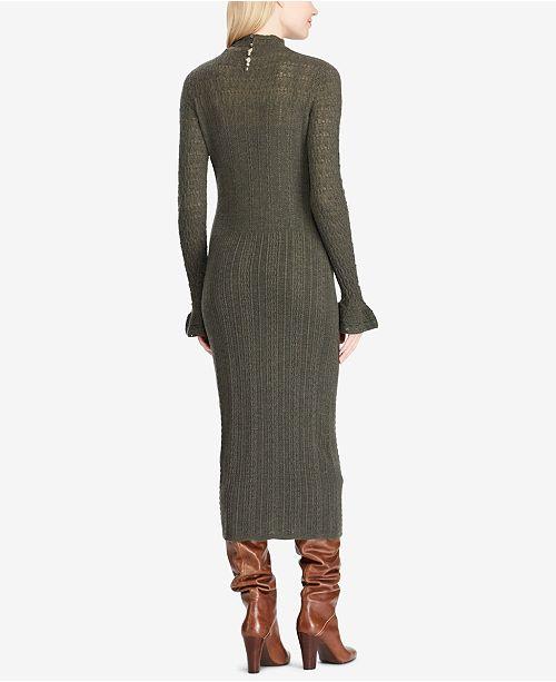 985c4e92cf Polo Ralph Lauren Pointelle Wool Sweater Dress   Reviews ...
