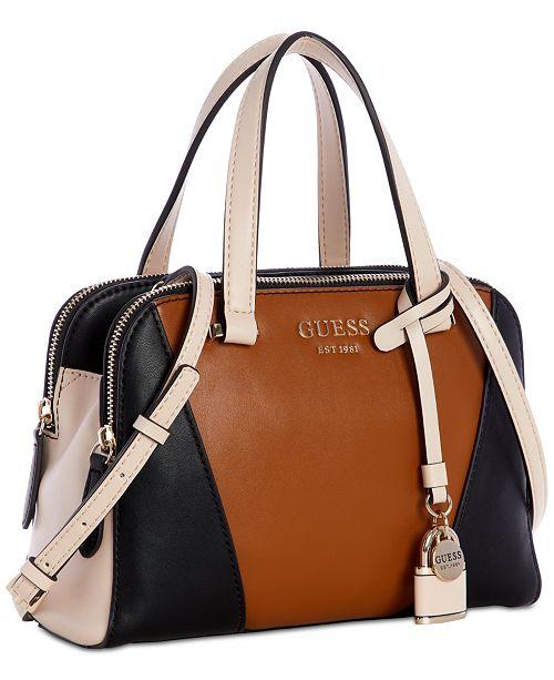 GUESS Shawna Cali Satchel   Reviews - Handbags   Accessories - Macy s 1e25e2def31b1