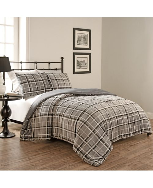 Keeco Beautyrest Casimir Plaid 3 Piece Comforter Set