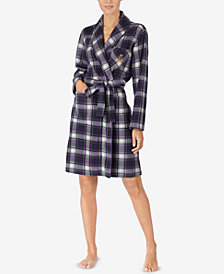 Lauren Ralph Lauren Belted Short Fleece Robe