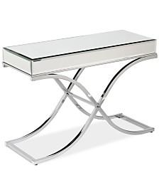 Ava Mirrored Console Table, Quick Ship