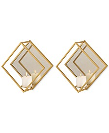 Zulia Gold Candle Sconces Set of 2