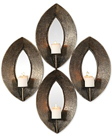 Nina Antiqued-Bronze Candle Sconce Set of 4