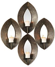 Nina Antiqued-Bronze Candle Sconce Set of 4
