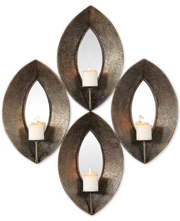Uttermost Nina Antiqued-Bronze Candle Sconce Set of 4