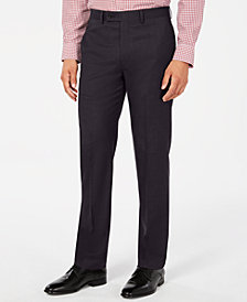 Calvin Klein Men's Slim-Fit Stretch Sharkskin Dress Pants