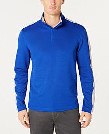 Alfani Men's Ottoman Stripe Quarter-Zip Mock-Collar Sweater, Created for Macy's
