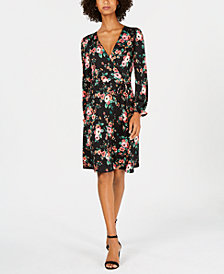 Monteau Petite Floral Fit & Flare Dress
