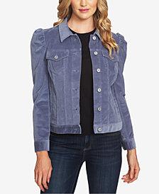 CeCe Puff-Sleeve Corduroy Jacket