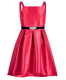 Pink & Violet Big Girls Taffeta Party Dress