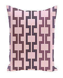 16 Inch Purple Decorative Geometric Throw Pillow