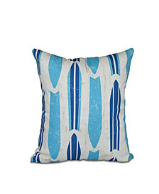 Dean 16 Inch Turquoise Decorative Nautical Throw Pillow