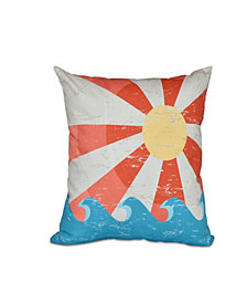 Sunbeams 16 Inch Orange Decorative Nautical Throw Pillow