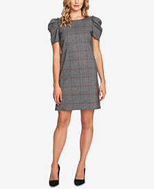 CeCe Puffed-Sleeve Shift Dress